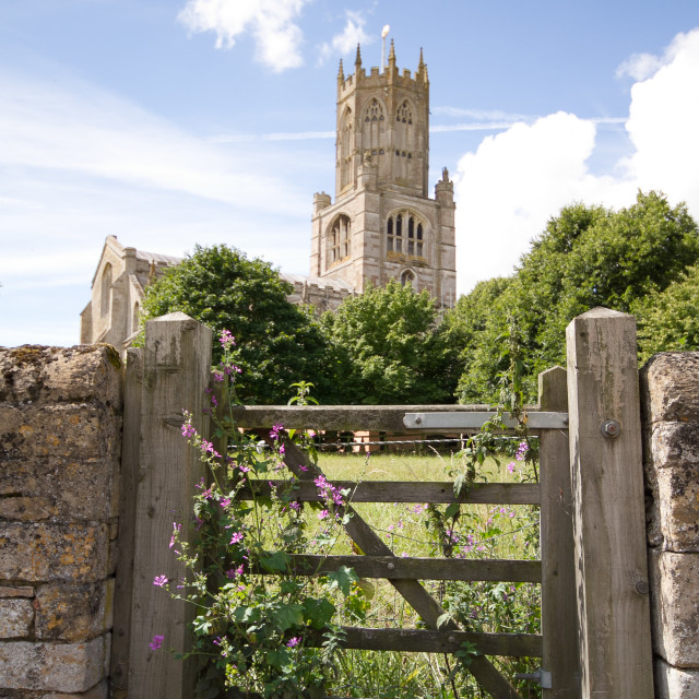 """Fotheringhay Church"" stock image"