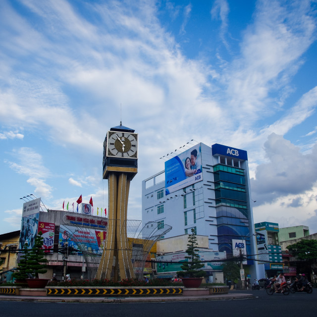 """View of time square at Bien Hoa City"" stock image"