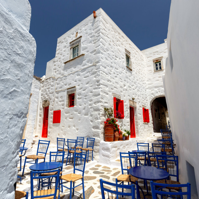 """Amorgos Island City lane"" stock image"