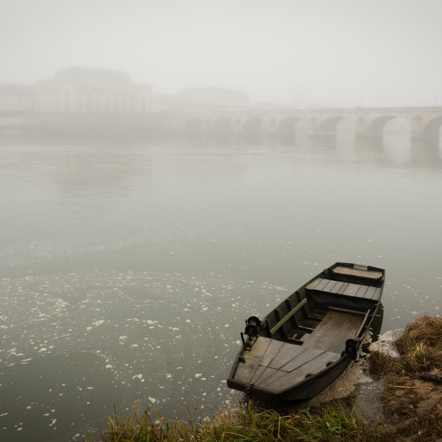 """Boat on the Loire"" stock image"