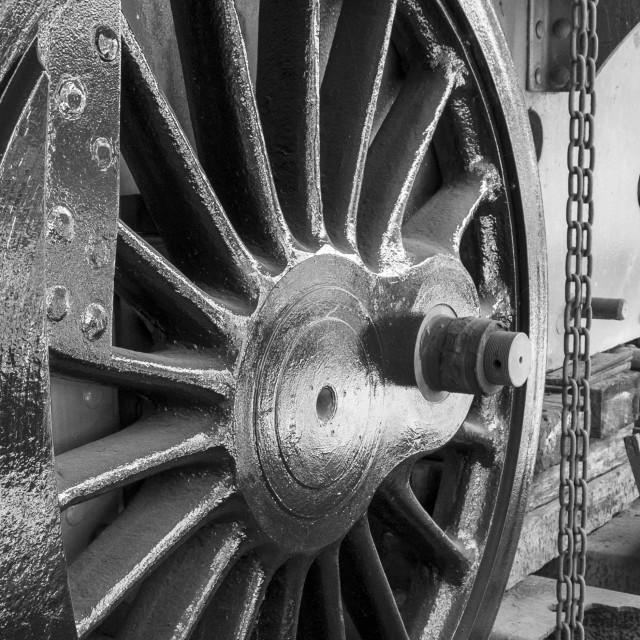 """Steam Locomotive Driving Wheel"" stock image"