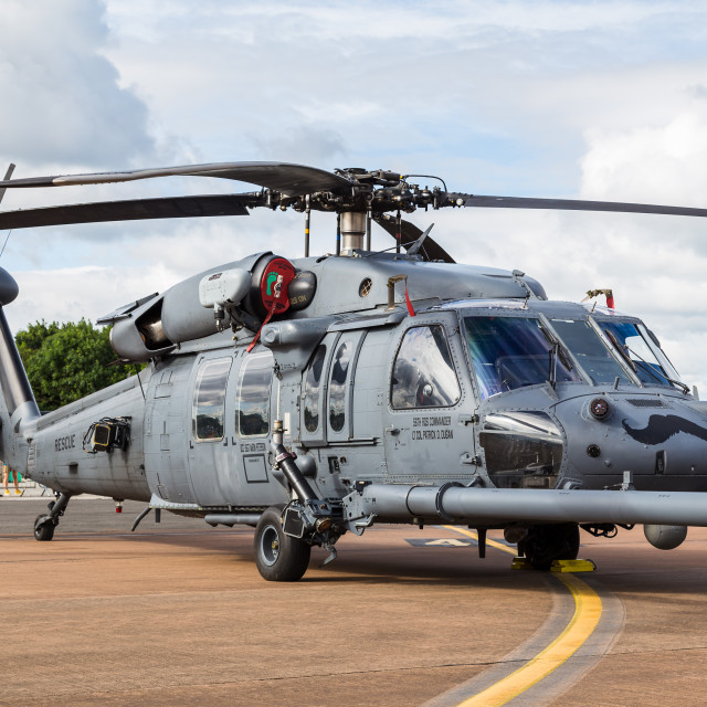"""USAF HH-60G Pave Hawk up close"" stock image"