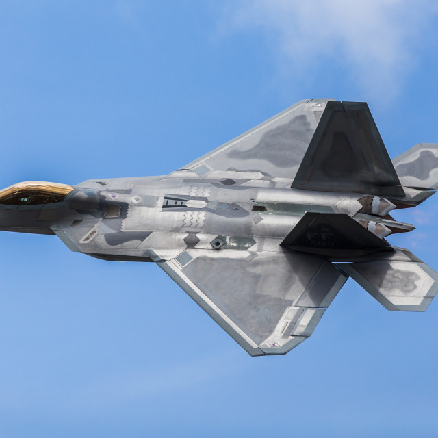 """F-22 Raptor demo"" stock image"