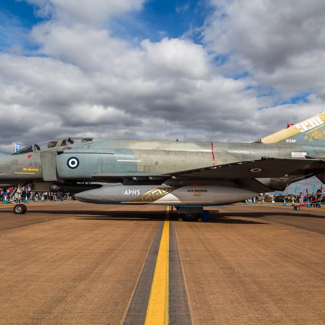 """Hellenic Air Force F-4E Phantom sideon"" stock image"
