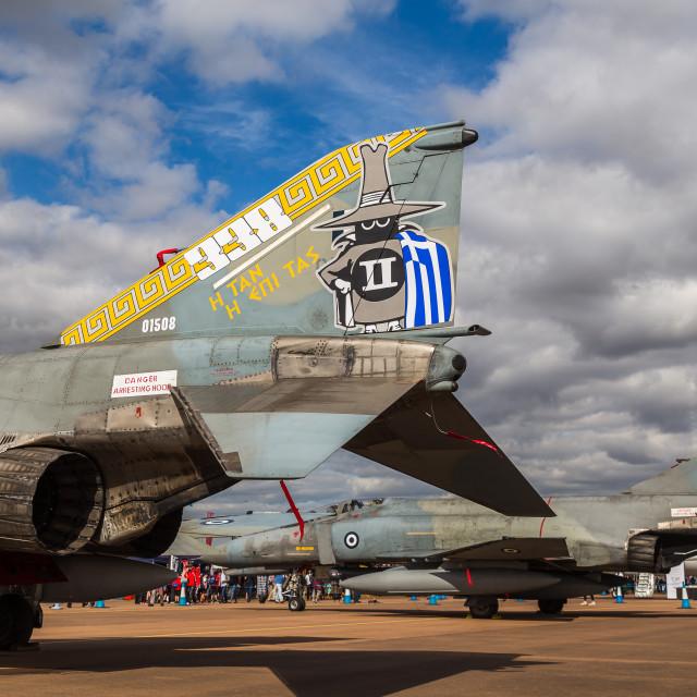 """Hellenic Air Force F-4E Phantom pair"" stock image"