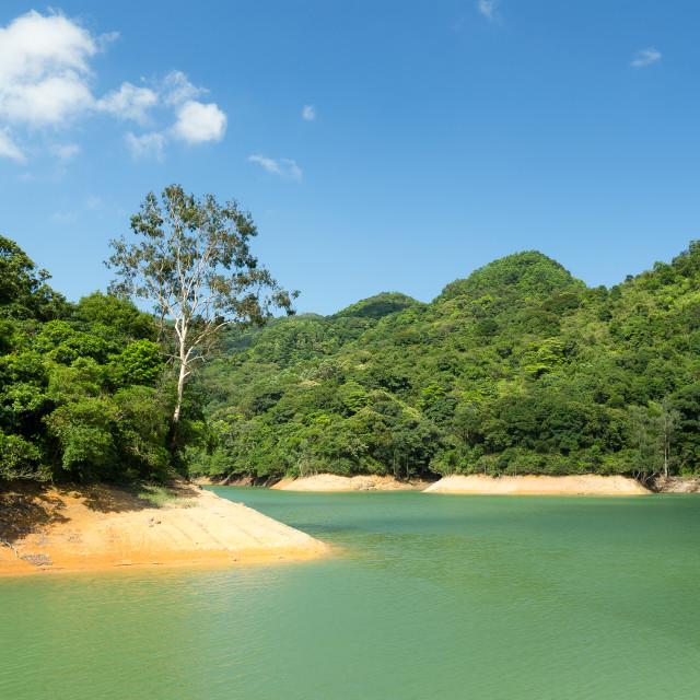 """Beautiful Reservoir"" stock image"