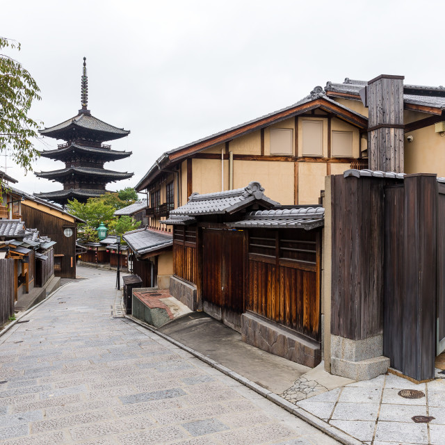"""Yasaka Pagoda and Sannen Zaka Street in the Kyoto"" stock image"