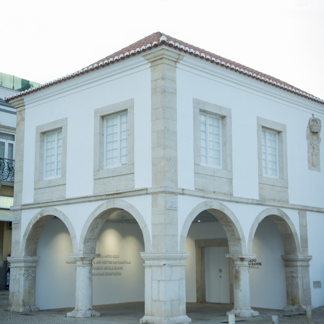 """PORTUGAL ALGARVE LAGOS SLAVE MARKET MUSEUM"" stock image"