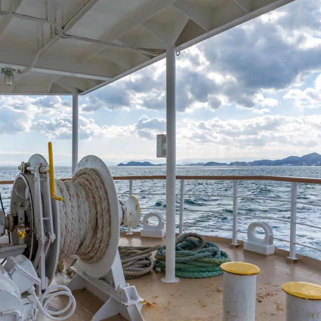 """Deck tourist ship to travel"" stock image"