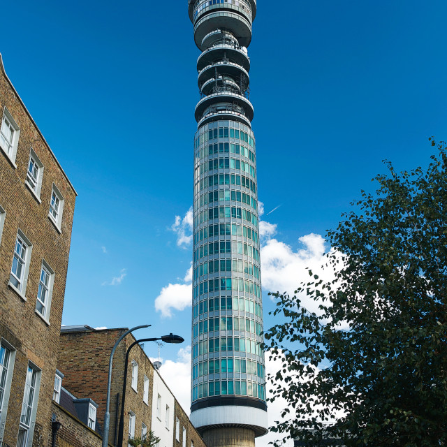"""The BT Tower in Fitzrovia, London #1"" stock image"