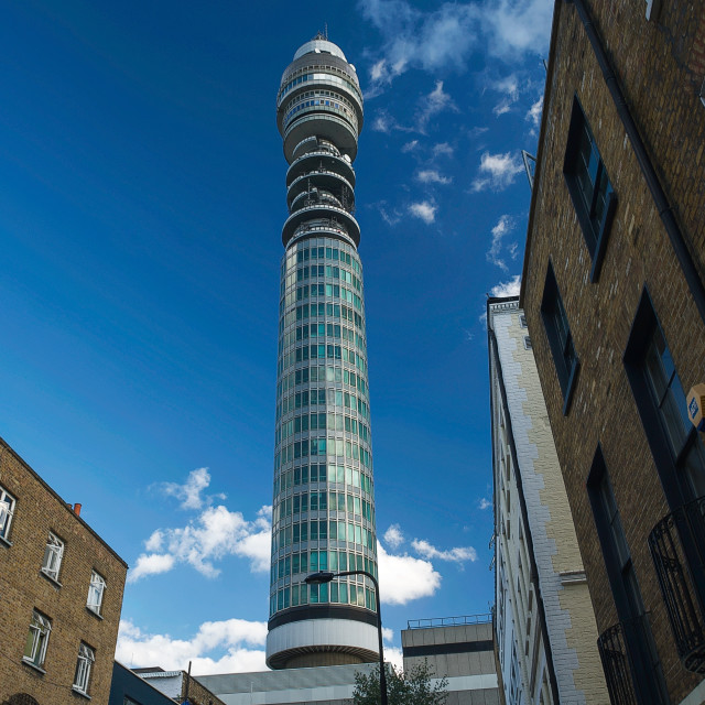 """""""The BT Tower in Fitzrovia, London #2"""" stock image"""