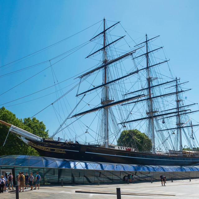 """""""Cutty Sark at Greenwich. London, Great Britain"""" stock image"""
