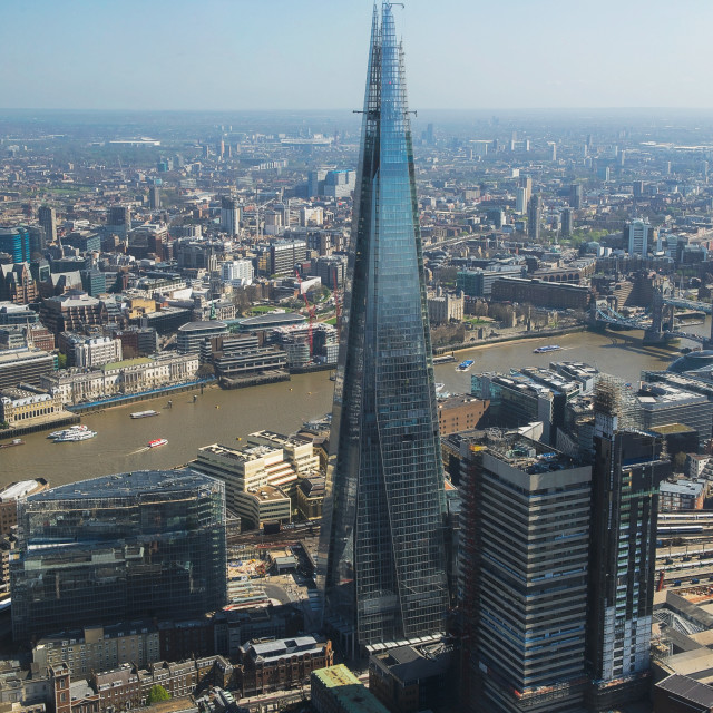 """""""Aerial view of The Shard, London, Great Britain"""" stock image"""