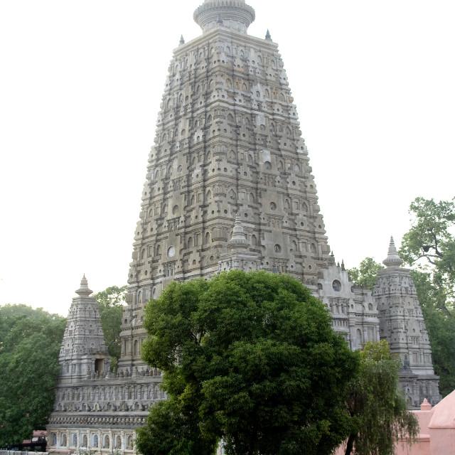 """Mahabodi Temple, Bodhgaya"" stock image"