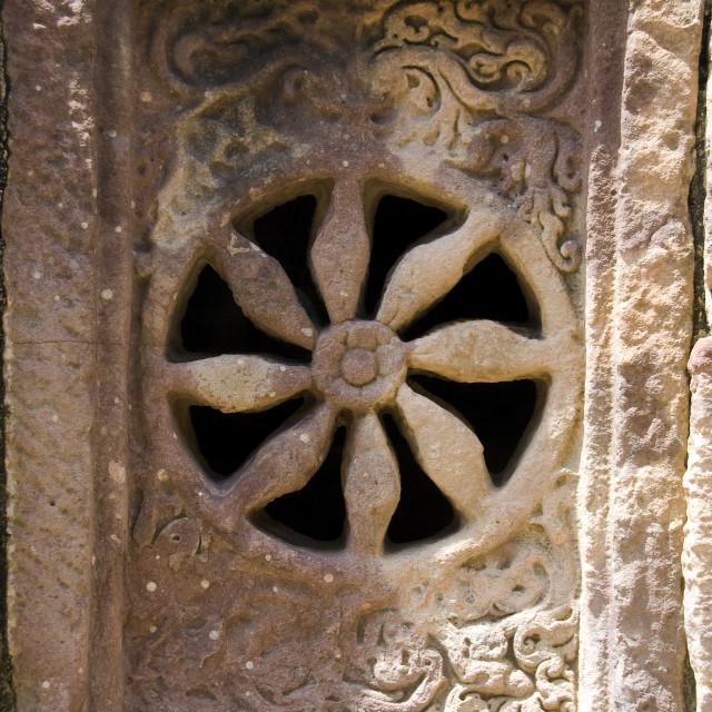 """Flowery Stone Ventilator"" stock image"