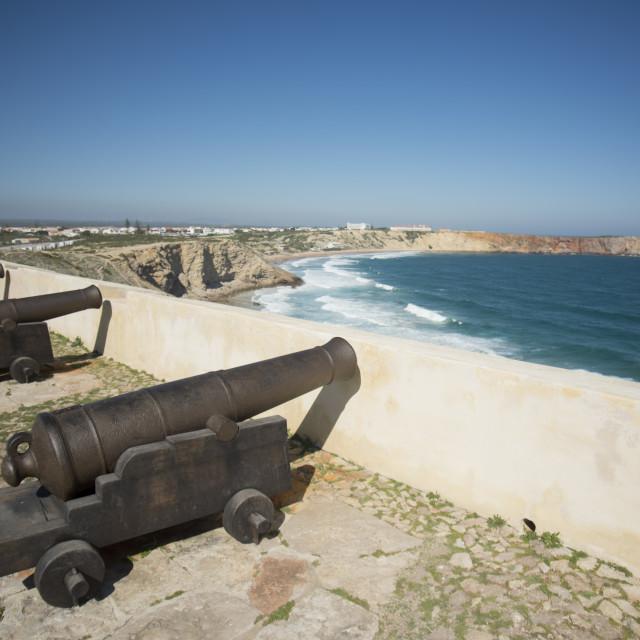 """PORTUGAL ALGARVE SAGRES FORTLEZA FORT"" stock image"