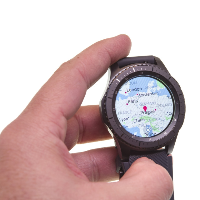 """""""Map on Smart watch"""" stock image"""