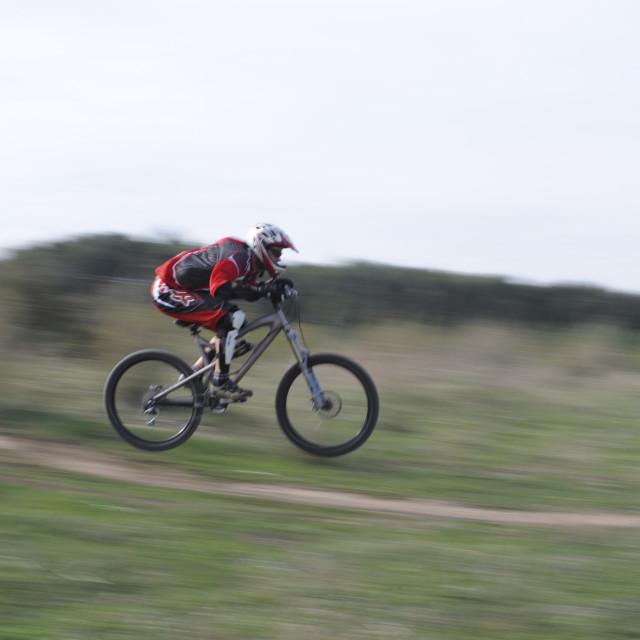 """Mountain Bikers"" stock image"