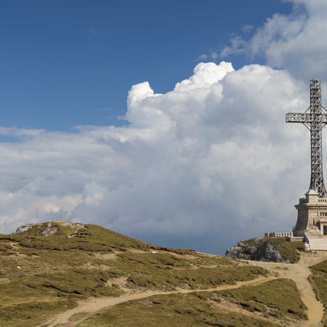 """""""Heroes Cross Monument In Bucegi mountains"""" stock image"""