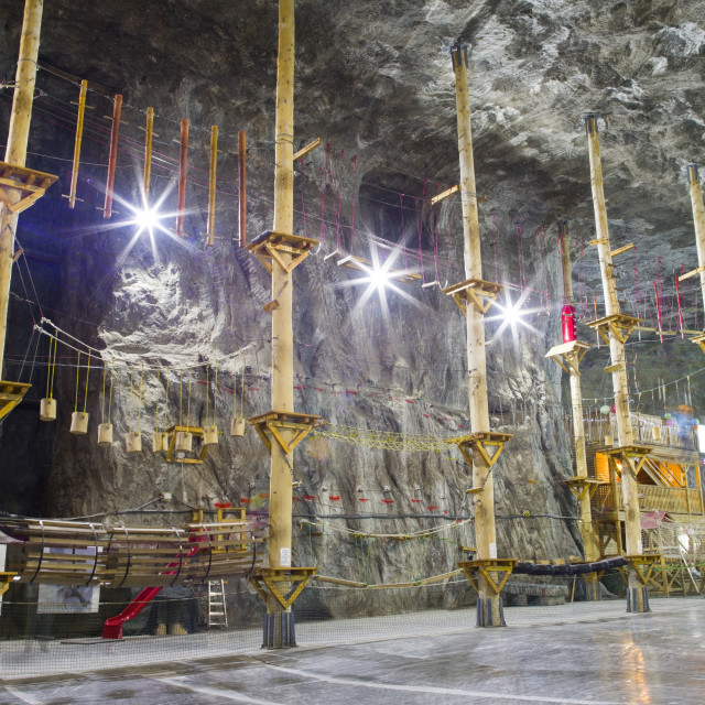 """Adventure park in the Salt mine"" stock image"