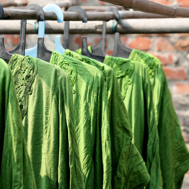 """Drying in the sun"" stock image"