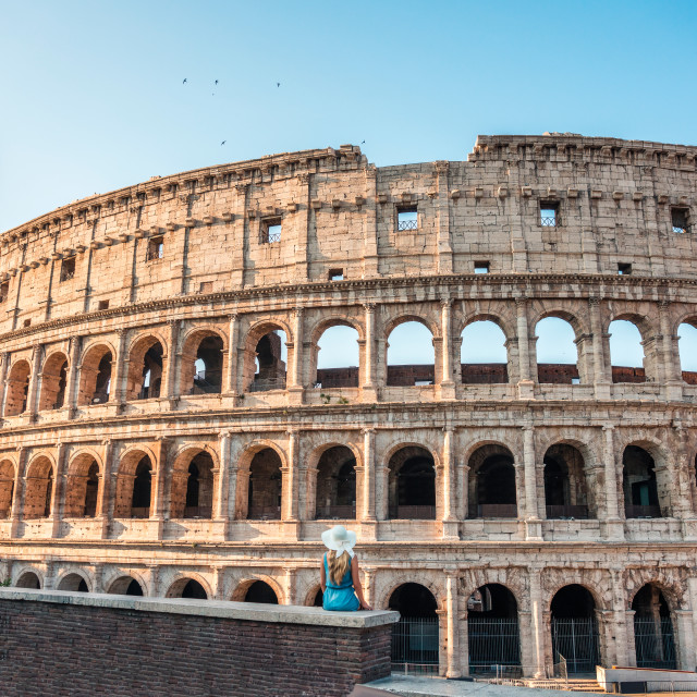 """Colosseum (Coliseum) in Rome, Italy"" stock image"