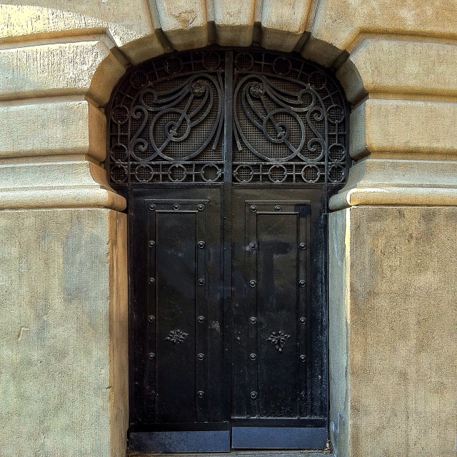 """""""Art nouveau door"""" stock image"""