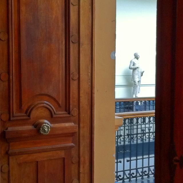 """""""Door and sculpture"""" stock image"""