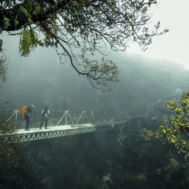 """Hiking at Mt rinjani"" stock image"
