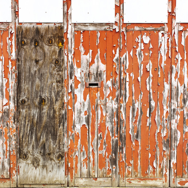"""""""Flaking paint on old building in centre of Hull"""" stock image"""
