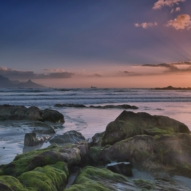 """Bloubergstrand Sunset"" stock image"