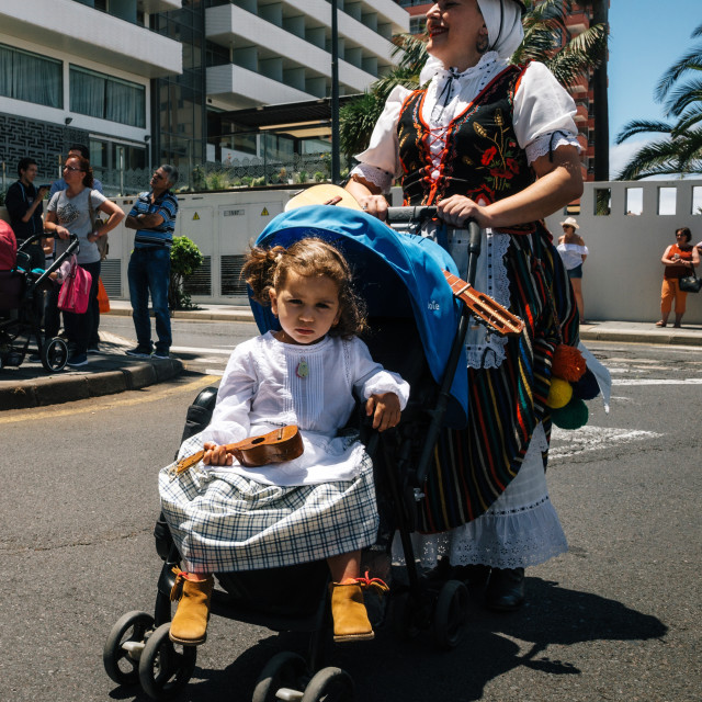 """Local residents of Tenerife celebrate the Day of the Canary Islands, Tenerife, Spain"" stock image"