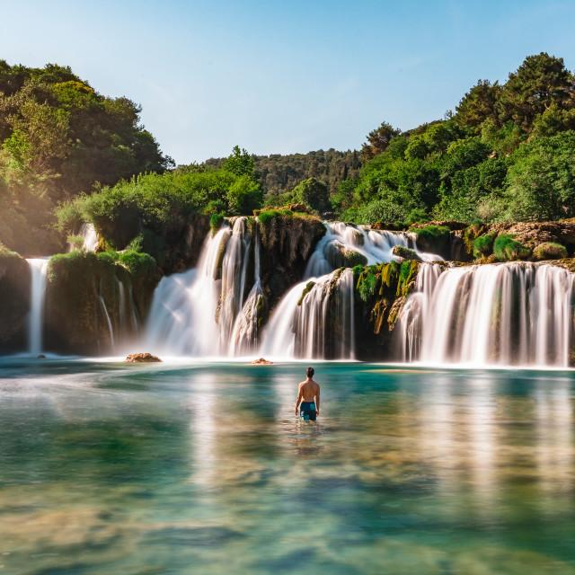 """Skradinski Buk Waterfall in Krka National Park, Croatia"" stock image"