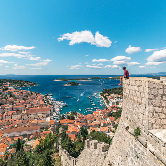 """Hvar Fortress on the Island of Hvar, Croatia"" stock image"