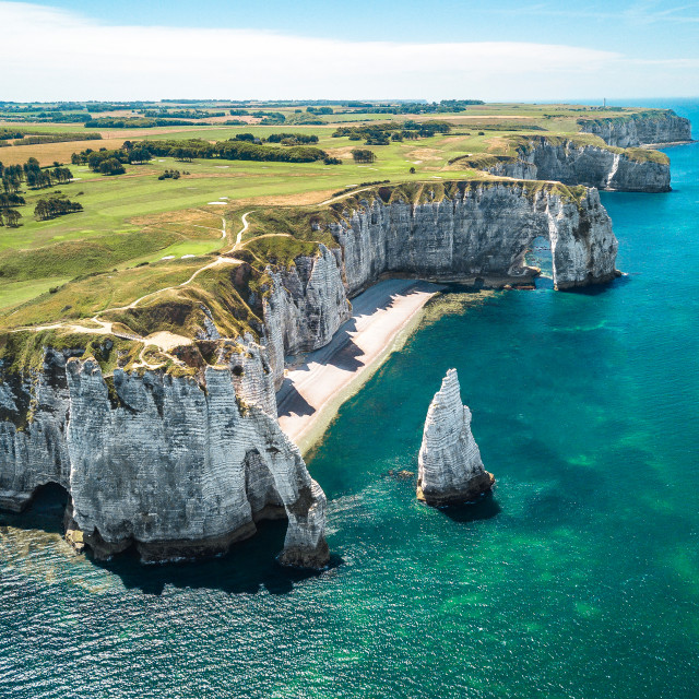 """Cliffs of Étretat in Normandy, France 