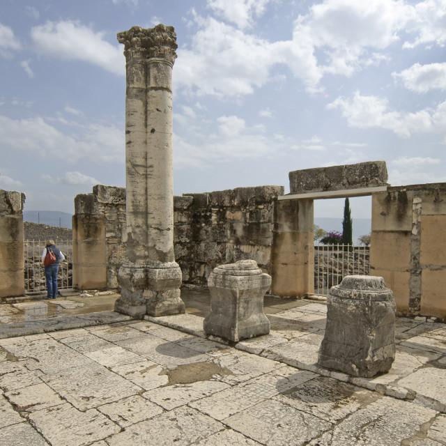 """""""Israel, Sea of Galilee, Capernaum"""" stock image"""