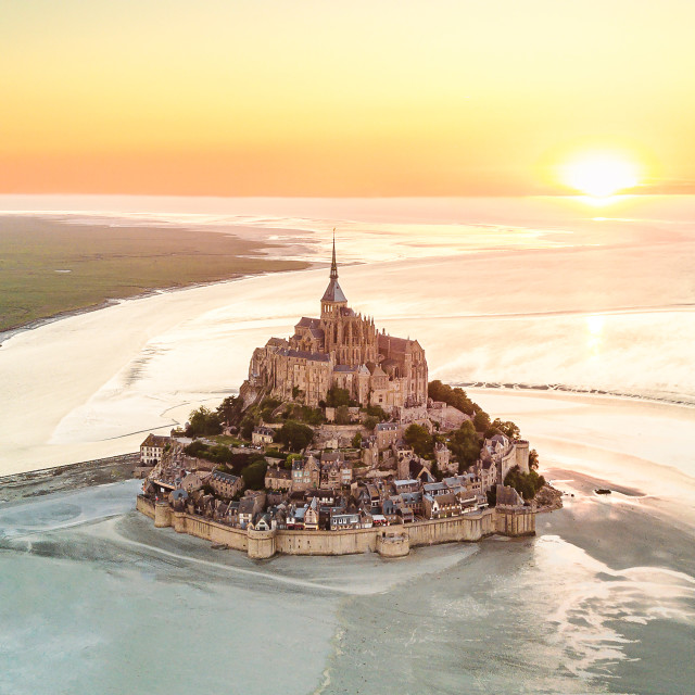 """Mont Saint-Michel in Normandy, France 