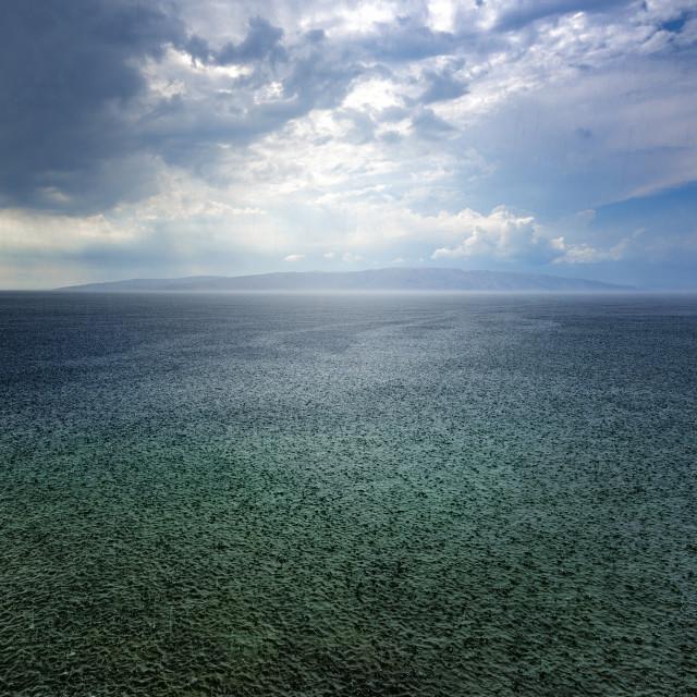 """Rain Storm over the Adriatic Sea in Croatia"" stock image"