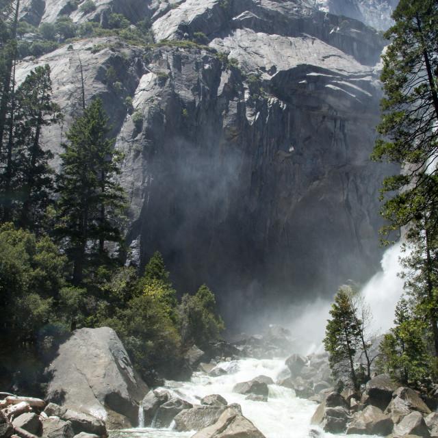 """Spring River at Yosemite"" stock image"