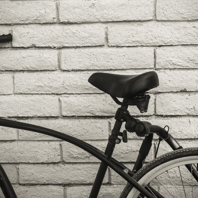 """Bike on a Wall"" stock image"