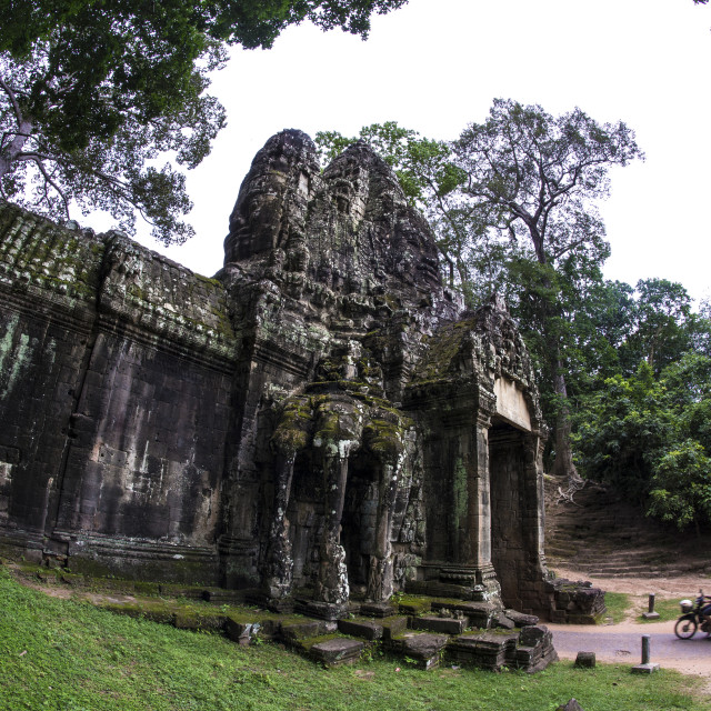 """Picture of Ta Prohm Temple. Ancient temple Angkor Wat in Cambodia."" stock image"