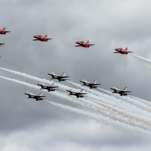 """""""Special Flypast"""" stock image"""