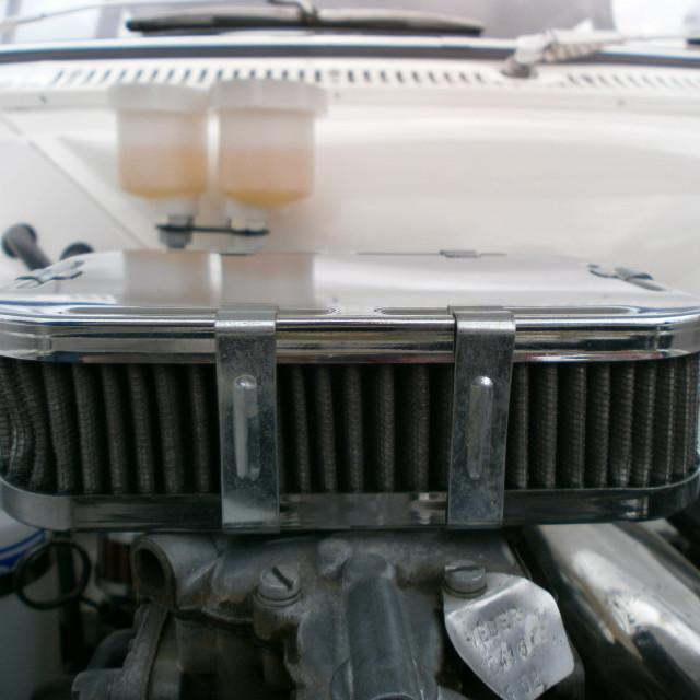 """""""Fiat 500 Carburetor"""" stock image"""