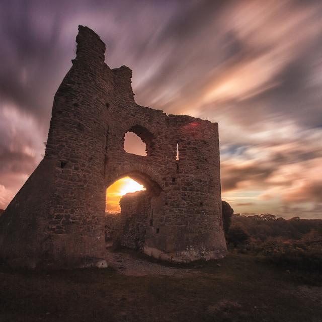 """Pennard castle Gower"" stock image"