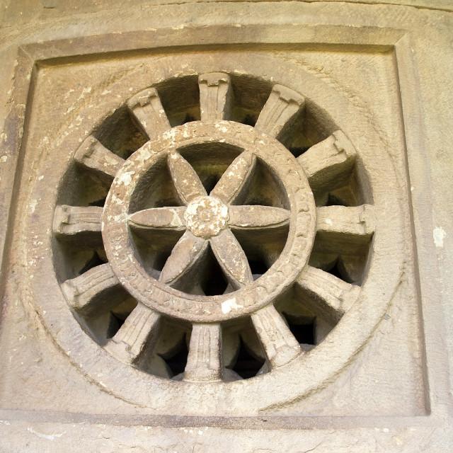 """""""Ventilator carved in Stone"""" stock image"""