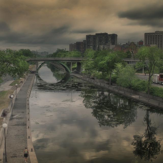 """""""Rideau Canal, Ottawa"""" stock image"""