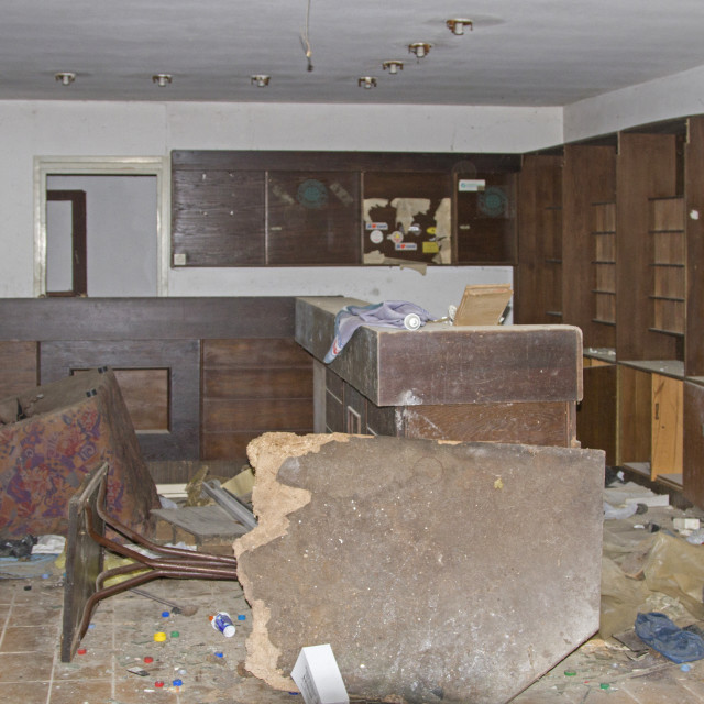 """""""Lost place at the abandoned hotel"""" stock image"""
