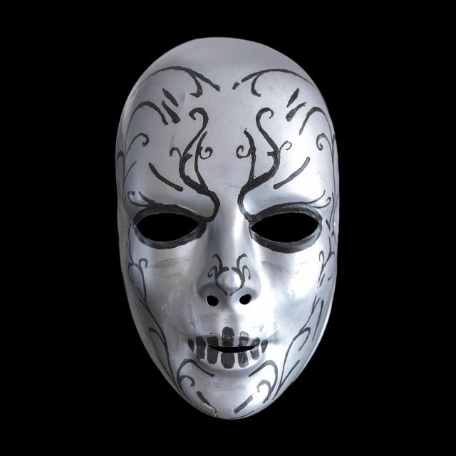 """""""Creepy mask on the black background"""" stock image"""