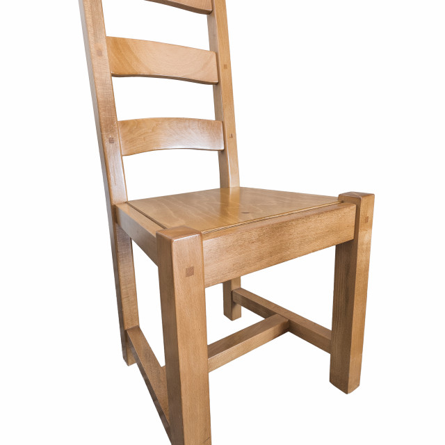 """""""Wooden chair on white background"""" stock image"""