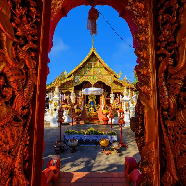 """Wat Ming Muang, Chiang Rai"" stock image"